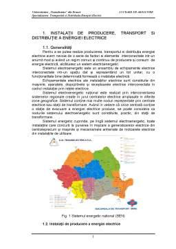 Proiect - Instalatii de Producere, Transport si Distributie a Energiei Electrice