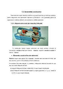 Proiect - Studiul asupra Tehnologiei de Construție și Fabricație a Mașinilor Electrice Asincrone cu Rotor în Scurtcircuit