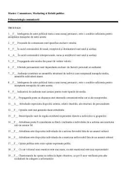 Notiță - Grila Master MCRP - Psihosociologia Comunicarii