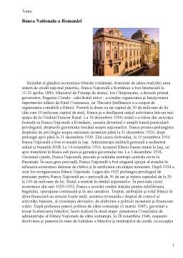 Referat - Banca Nationala a Romaniei
