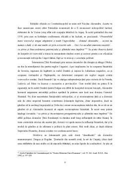 Licență - Legaturi Romano-Bizantine in Secolul XIII-XVIII