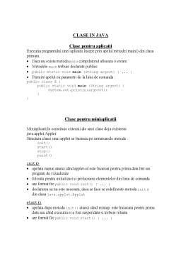 Curs - Clase în Java