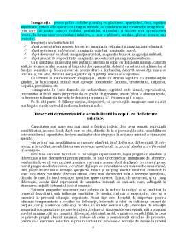 Notiță - Psihopedagogie - Deficienti de Intelect