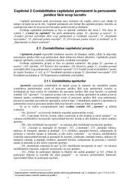 Curs - Contabilitatea Capitalului Permanent la Persoanele Juridice fără Scop Lucrativ
