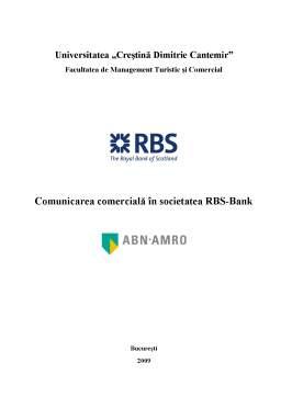 Proiect - Comunicarea Comercială în Societatea RBS-Bank