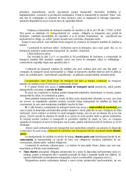 Curs - Contract de Transport Maritim