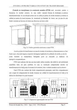 Licență - Alimentarea unui Atelier de Prelucrare Mecanica Folosind un Post de Transformare