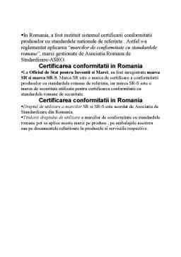 Curs - Standardizarea Europeana