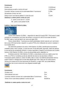 Proiect - Banca Transilvania
