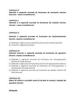 Proiect - Defecte si Regimuri Anormale ale Masinilor si Aparatelor Electrice