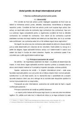 Referat - Actul Juridic de Drept Internațional Privat