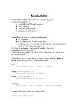 Curs - Exceptii in Java