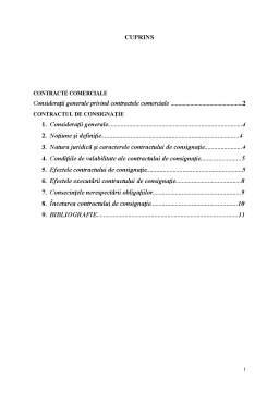 Referat - Contractul de Consignație