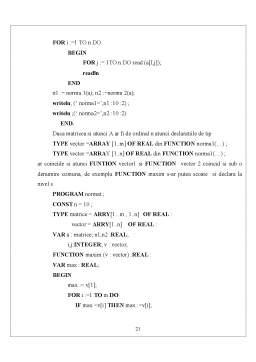 Curs - Proceduri si Functii - Proceduri Pascal
