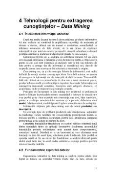 Curs - Tehnologii pentru Extragerea Cunoștințelor - Data Mining