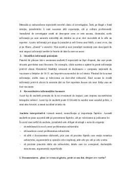 Curs - TIJ Curs 4 - Tehnici de Investigare Jurnalistica