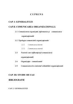 Referat - Comunicare Organizațională
