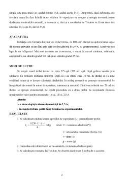 Laborator - Caldura de Vaporizare - Regula lui Trouton
