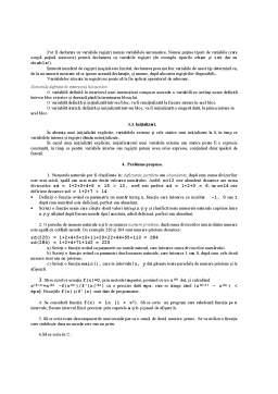 Curs - Functii si Variabile in C si C++