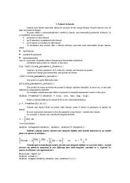 Curs - Functii, Tablouri și Pointeri în C și C++