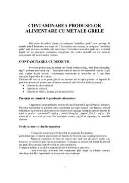 Curs - Contaminarea Produselor Alimentare cu Metale Grele1