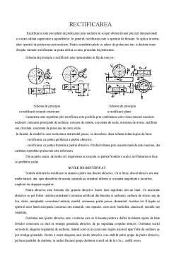Notiță - Gaurirea - Strunjirea - Rectificarea - Prelucrarea prin Aschiere - Rabotarea si Mortezarea