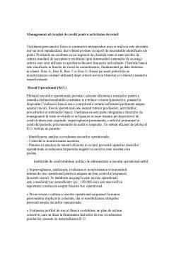 Curs - Managementul Riscului Bancar