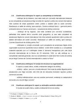 Referat - Aspecte Generale privind Arbitrajul Comercial International