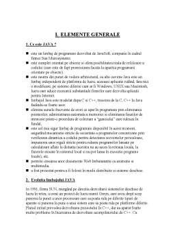 Curs - JAVA - Elemente Generale