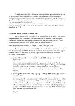 Proiect - Sistemul de Pensii si Asigurarile pentru Pensii