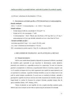 Proiect - Analiza Peroxidazei ca Potențial Indicator Molecular de Poluare în Produsele Vegetale