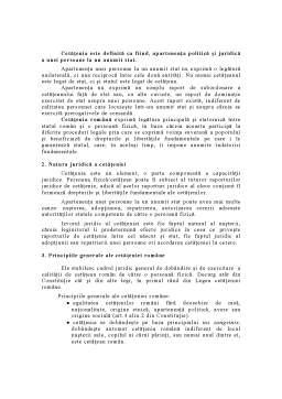 Curs - Cetățenia Română