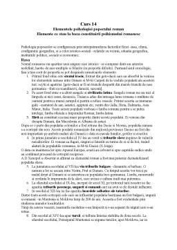 Curs - Elementele Psihologiei Poporului Roman - Elemente ce Stau la Baza Constituirii Psihismului Romanesc