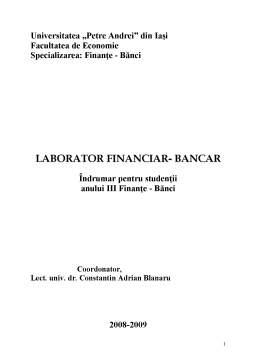 Curs - Laborator Financiar-Bancar
