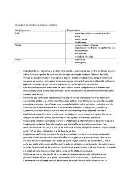 Curs - Proceduri de Colectare a Probelor și Obiective