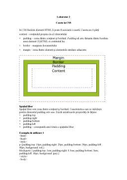 Curs - Cascade Style Sheet