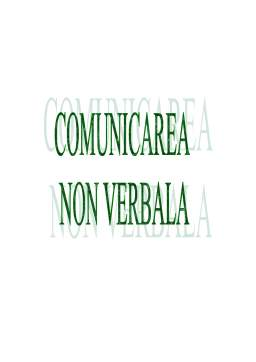 Referat - Comunicarea Non Verbala