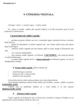 Curs - Biologie Vegetala - Curs 2