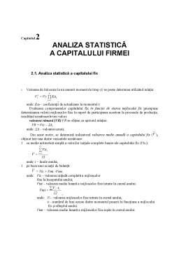Curs - Analiza Statistică a Capitalului Firmei