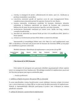 Referat - Metodologii de Implementare ERP