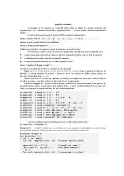 Curs - Siruri de Caractere in C si C++