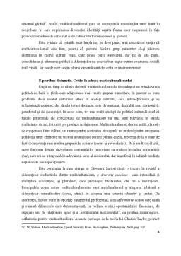 Proiect - Multiculturalism - Obligatie sau Optiune