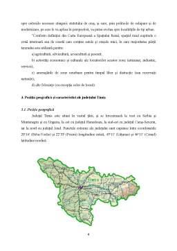 Proiect - Aspecte ale Dezvoltarii Rurale in Judetul Timis