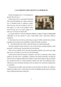 Proiect - Comunicarea Verbala si Nonverbala in Cadrul Hotelului Horoscop