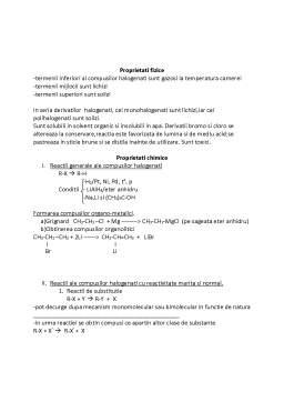 Curs - Derivati Halogenati
