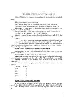 Curs - Crearea Bazelor de Date - SQL Server