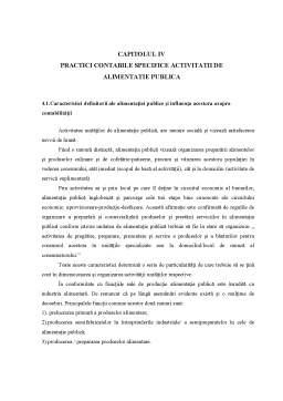 Curs - Practici Contabile Specifice Activității de Alimentație Publică