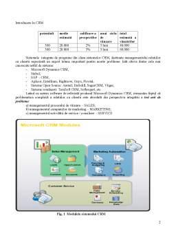 Curs - CRM - Custom Relationship Management o Solutie de Management al unei Firme de Audit