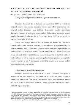 Licență - Particularități ale Aderării României la Uniunea Europeană
