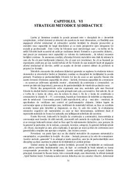 Proiect - Proza lui Ion Creanga - Strategii Metodice si Didactice